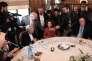 Leïla Slimani, après l'annonce de son prix, au restaurant Le Drouant, à Paris, jeudi 3novembre 2016.