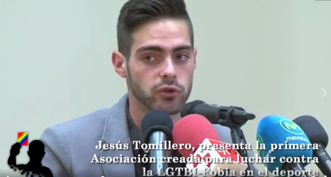 Jesus Tomillero a rencontré des représentants du Parlement européen pour leur demander d'adopter des mesures contre l'homophobie dans le sport.