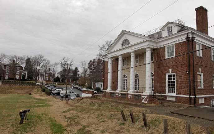 Le bâtiment de la fraternité Phi Kappa Psi dans l'university de Virginie.