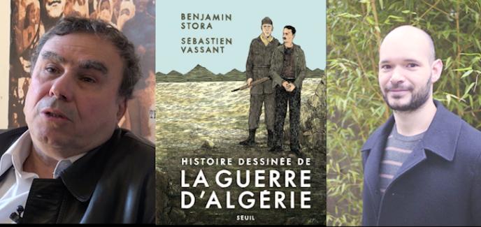 Benjamin Stora et Sébastien Vassant, auteurs de d'« HIstoire dessinée de la guerre d'Algérie», aux éditions du Seuil.