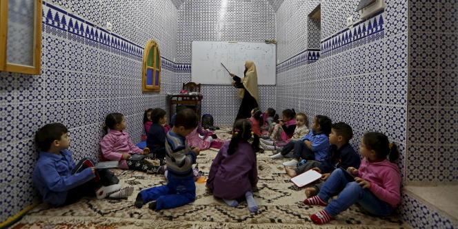 Une classe dans la Casbah d'Alger, en décembre 2006.
