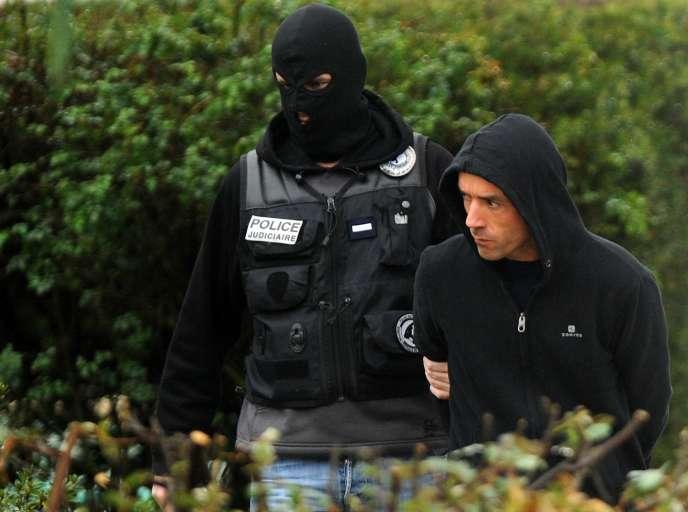 Mikel Irastorza lors de son arrestation, le 5novembre.