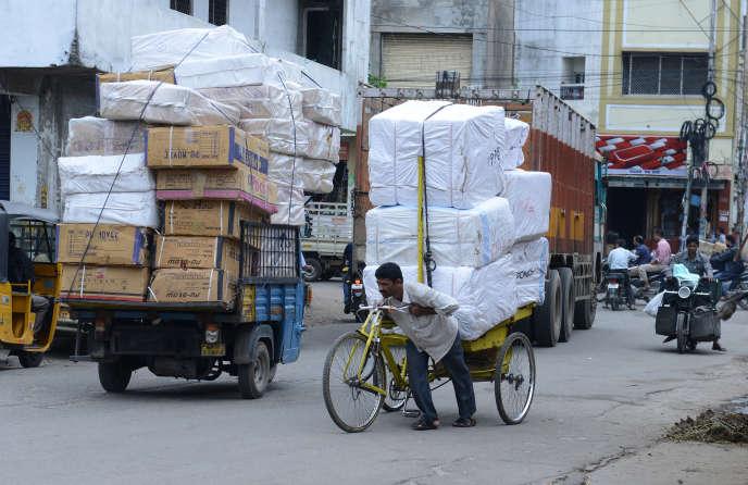 AHyderabad, en Inde, en août.