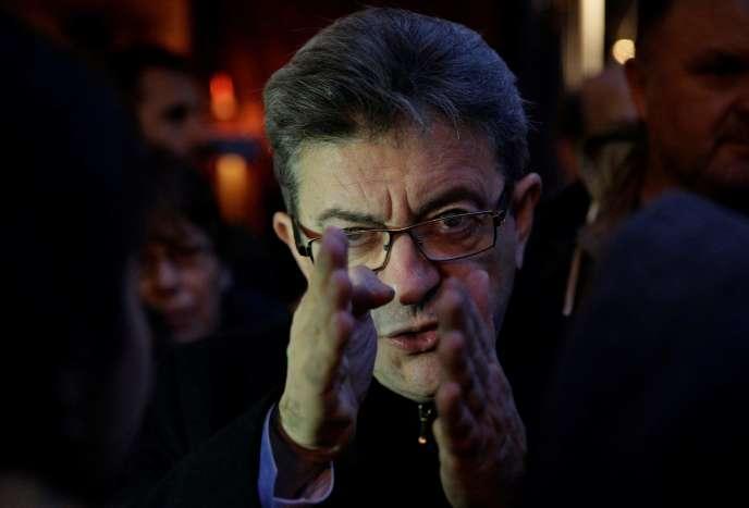 Jean-Luc Melenchon le 4 novembre à Paris.