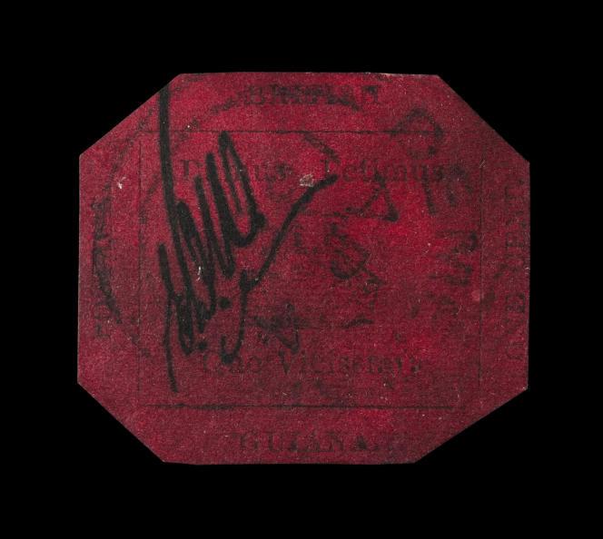 Le «one cent» noir et magenta, de Guyane britannique, émis en 1856, connu à un seul exemplaire, a été vendu aux enchères le 17 juin 2014 pour 9,5 millions de dollars (environ 7 millions d'euros), prix le plus élevé jamais atteint par un timbre.