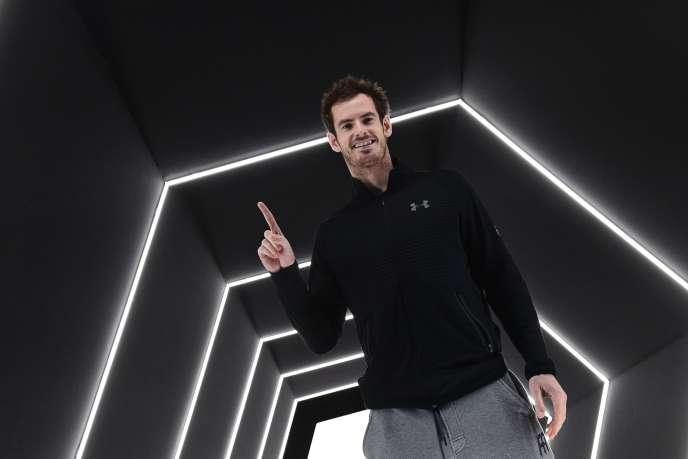 Andy Murray après sa victoire au Master1000 de Paris contre l'Américain John Isner (6-3, 6-7, 6-4).