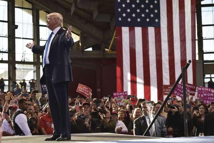 Donald Trump lors de son meeting de campagne à Raleigh, en Caroline du Nord, le 7novembre.