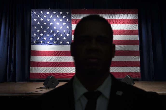 Le drapeau américain, le 17 avril à Poughkeepsie.