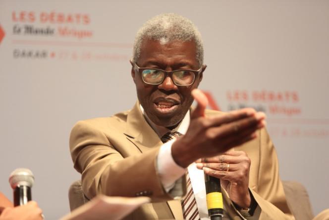 Souleymane Bachir Diagne, lors des «Débats du Monde Afrique» à Dakar, les 27 et 28 octobre 2016.