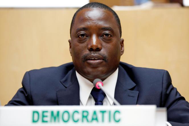 Le président congolais Joseph Kabila, ici dans une réunion de l'Union africaine à Addis-Abeba, en Ethiopien, en 2013.