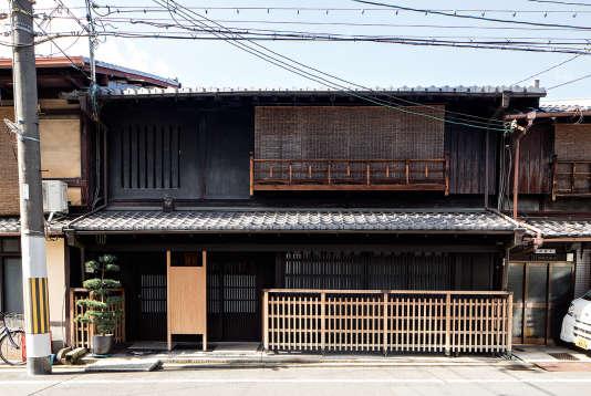 La« machiya», maison-atelier en bois typique de Kyoto, de Kunihiko Moriguchi.
