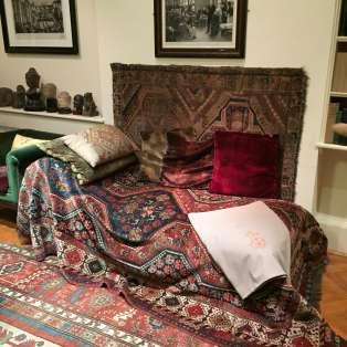 Dans la maison de Freud, le canapé sur lequel s'allongeaient les patients dupsychanalyste autrichien.