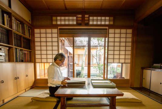 Kunihiko Moriguchi dansson atelier de Kyoto,le 20 septembre 2016.