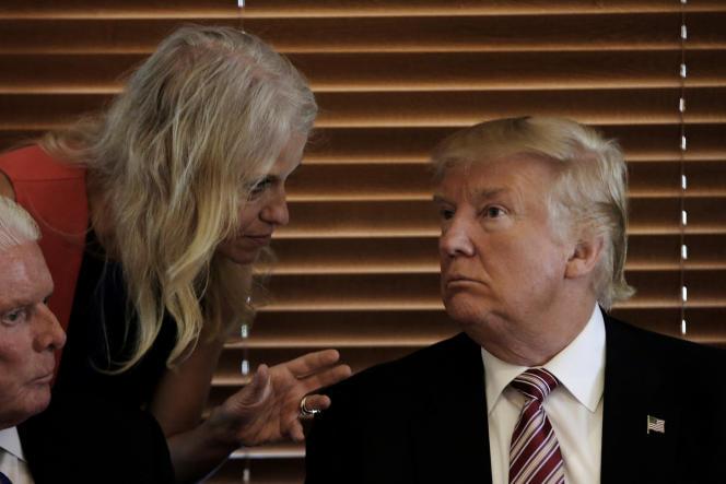 La directrice de campagne de Donald Trump, Kellyanne Conway, en action.
