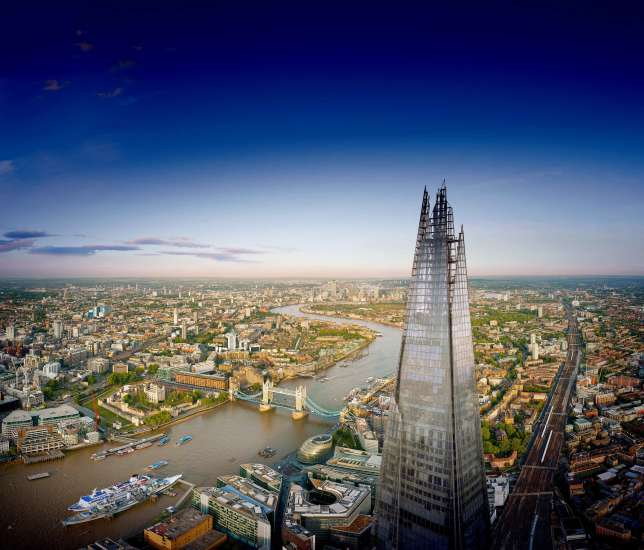 "Vue du gratte-ciel ""The Shard""."