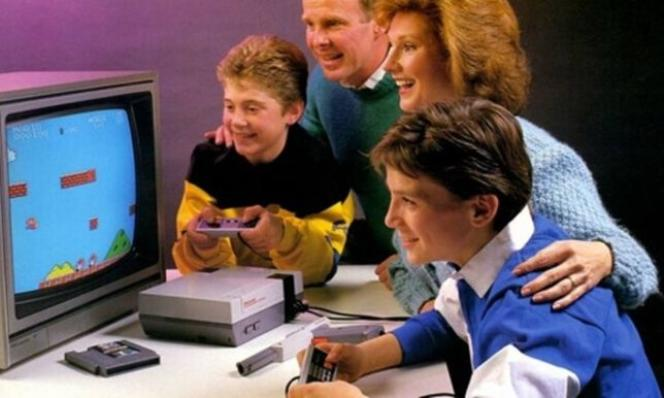 Publicité d'époque pour la NES, sortie en 1985 à New York et en 1987 en France.