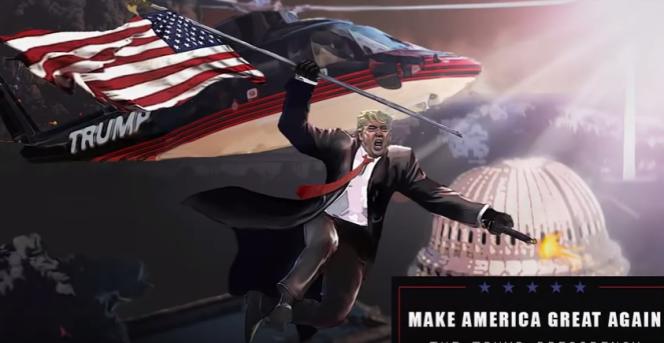 «Make America Great Again : The Trump Presidency», un des nombreux jeux dédiés au candidat républicain.