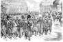 Défilé des troupes françaises rentrant d'Italie, à Paris, en 1859