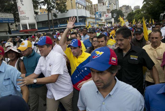 Manifestation contre le président vénézuélien Nicolas Maduro à Caracas, la capitale, le 26 octobre 2016.