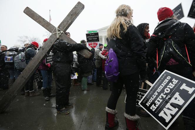 Une« marche pour la vie», contre le droit à l'avortement, à Washington, en janvier 2016.