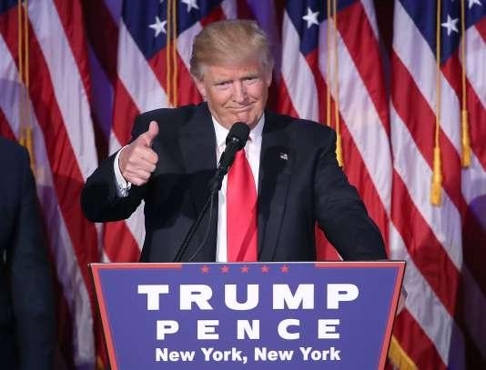 Donald Trump, le 9 novembre à New York.