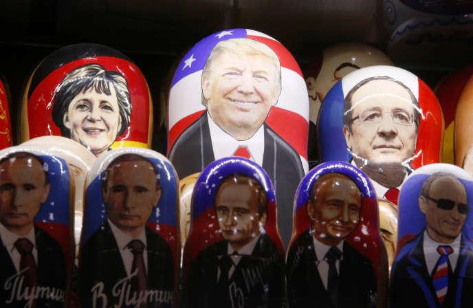 Dans une boutique de souvenirs à Moscou, le 7 novembre.