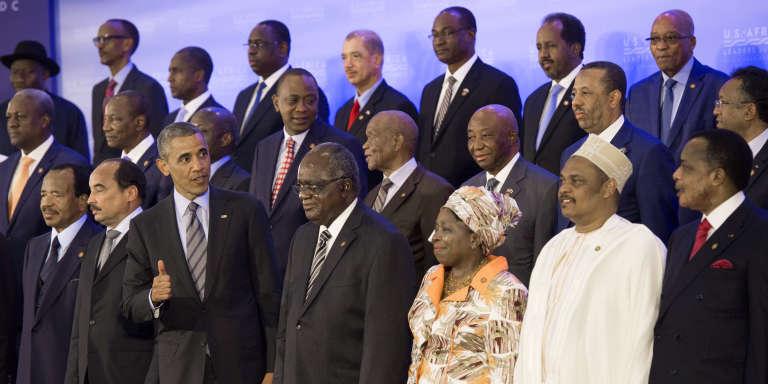 Lors du Sommet des leaders africains organisé en août 2014 à Washington par l'administration Obama.