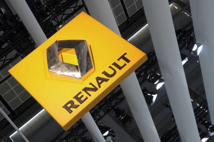 Le logo de Renault au Mondial de l'automobile de Paris, le 3 octobre 2008.
