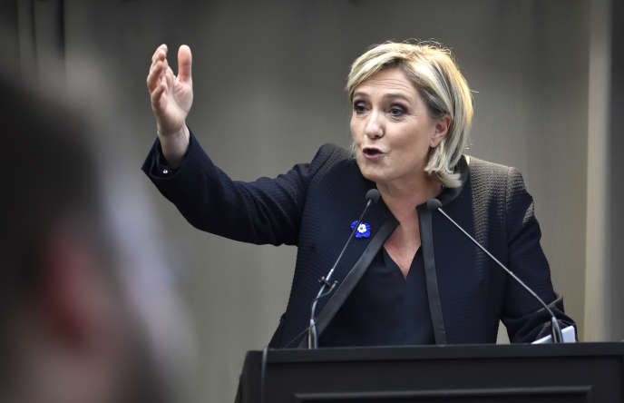 Marine Le Pen, à Paris, le 8 novembre 2016.