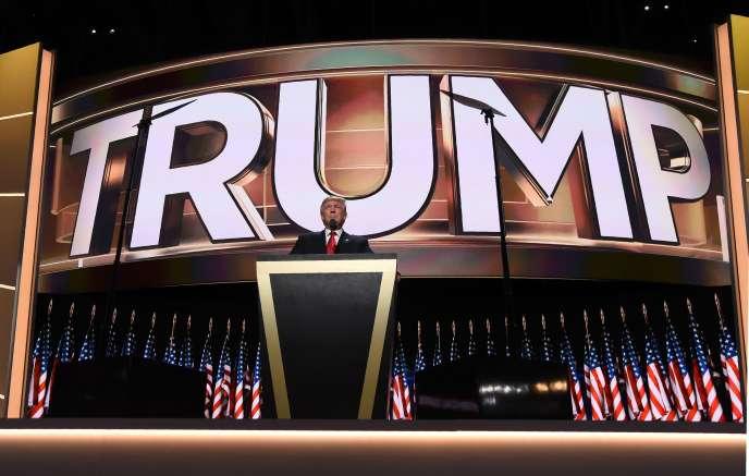 Donald Trump, le 22 juillet à Cleveland.
