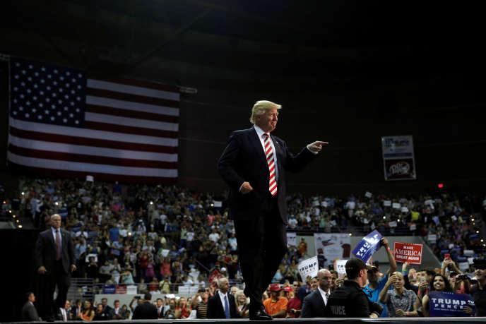 Donald Trump, à Pensacola (Floride), le 9 septembre.