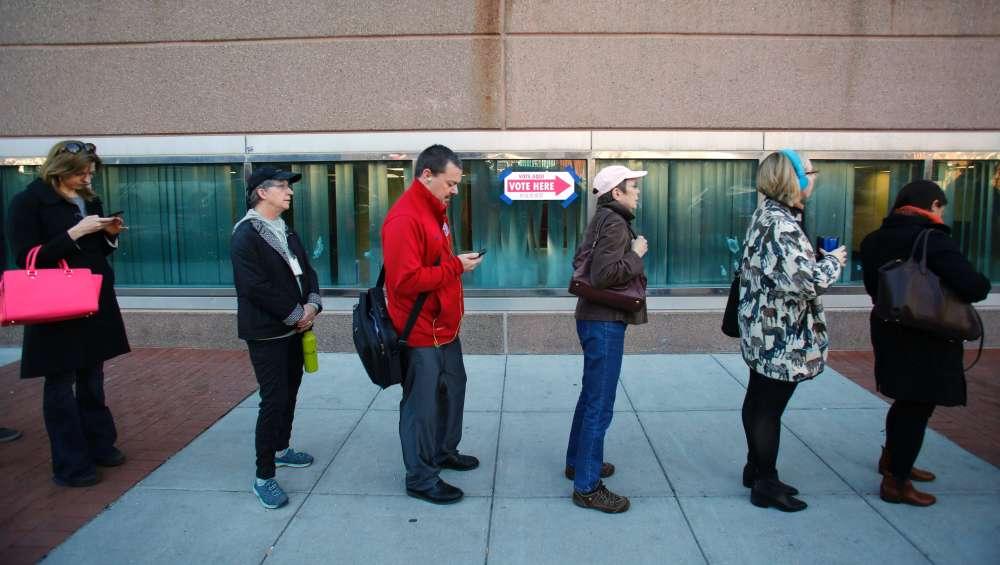 La queue des électeurs à Washington DC.