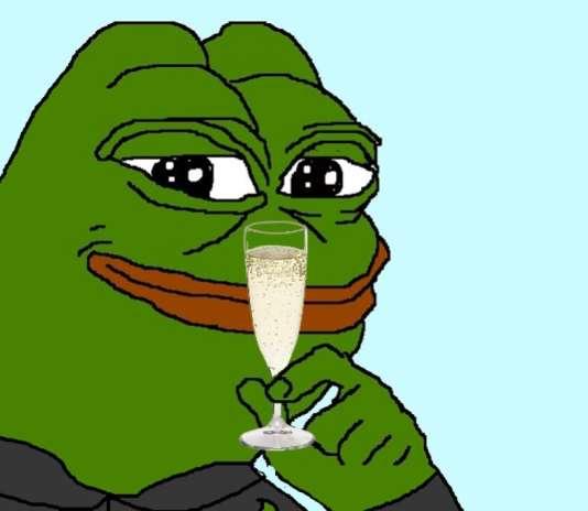 Pepe the Frog, icône des internautes anti-establishment, après la victoire de Donald Trump.