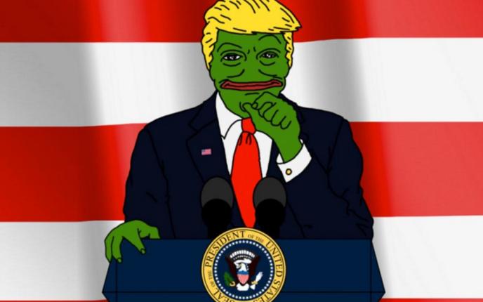 La grenouille Pepe the Frog, devenue un « mème» sur Internet,a été récupérée par une des franges les plus extrémistes des supporteurs de Donald Trump.