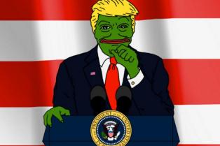 La grenouille Pepe the Frog, devenue un « meme» sur Internet,a été récupérée par une des franges les plus extrémistes des supporteurs de Donald Trump.