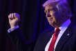 Le vainqueur de l'élection présidentielle américaine, Donald Trump, arrive à l'hôtel New York Hilton Midtown pour prononcer son discours de victoire, dans la nuit du 8 au 9 novembre 2016.