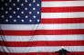 Donald Trump devant le drapeau américain le 6 novembre.