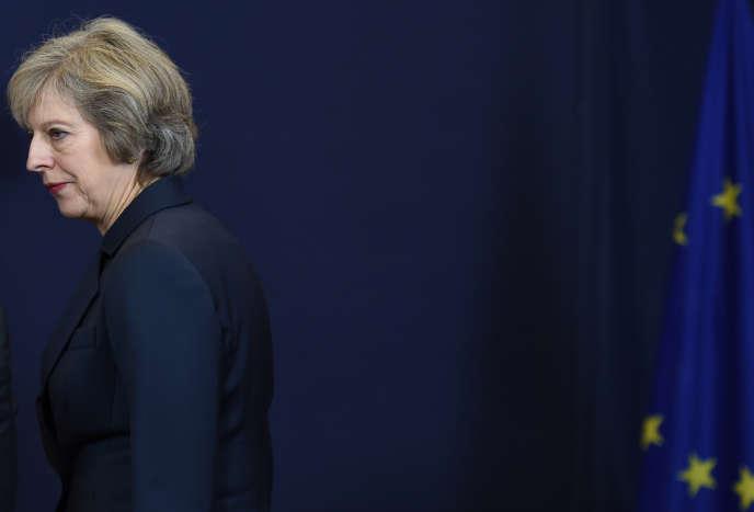 Theresa May, à Bruxelles le 20 octobre.