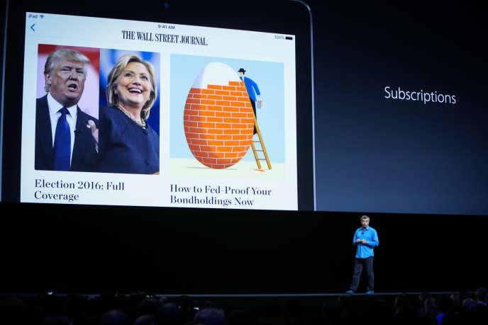Conférence d'Apple, en juin, à San Francisco.