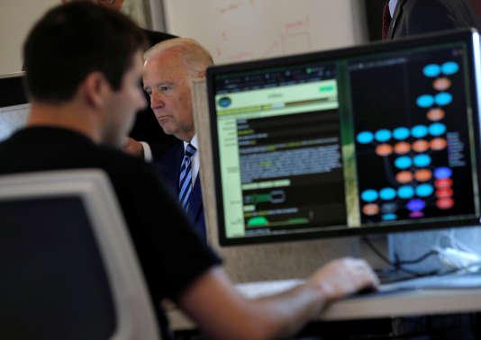 Le vice-président des États-Unis, Joe Biden, au Centre des sciences de l'information de l'Université de Chicago, le 6 juin.