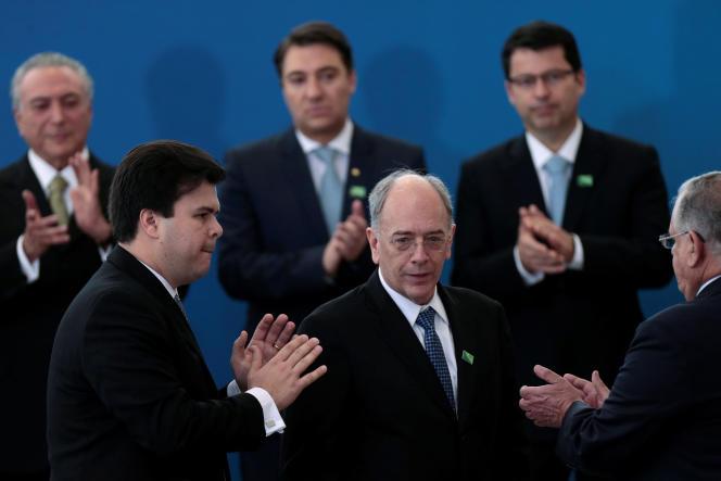 Pedro Parente, PDG de Petrobras depuis le mois de mai. Ici à Brasilia.