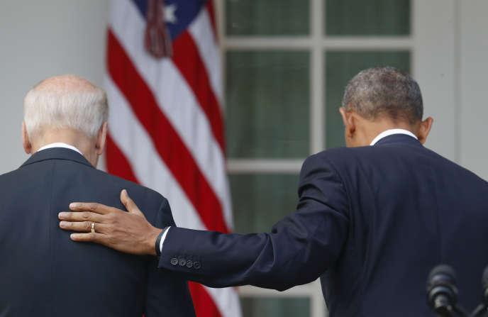 Barack Obama et le vice-président Joe Biden le 9 novembre à Washington, aux Etats-Unis.
