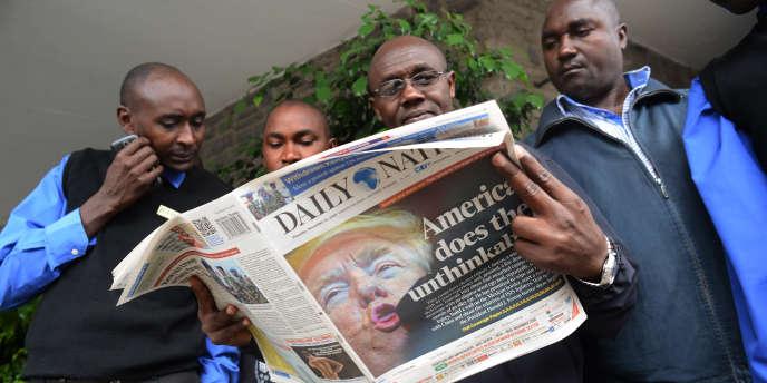 A Nairobi, au lendemain de la victoire de Donald Trump à la présidentielle américaine, le 8 novembre 2016.