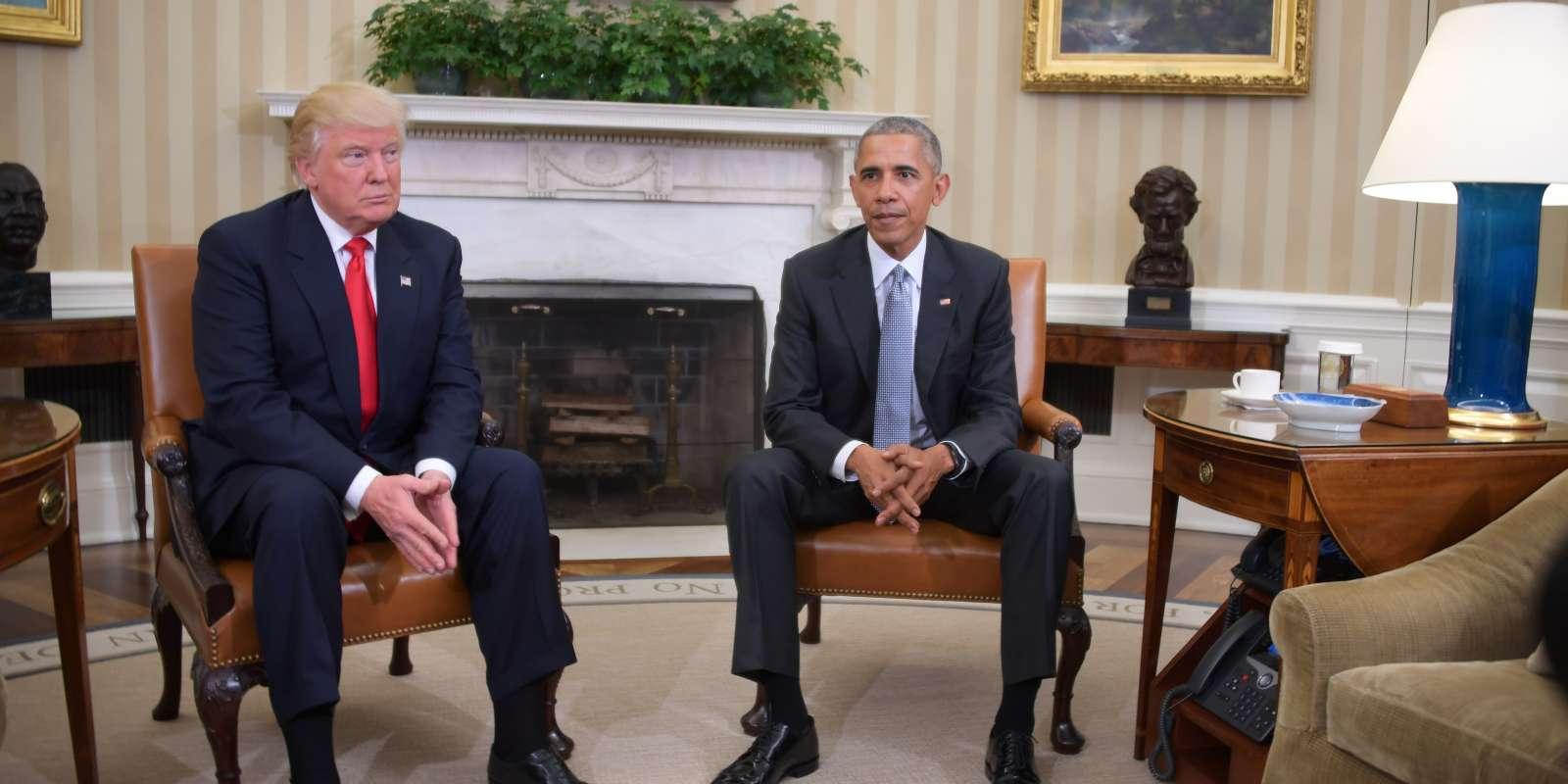 Le président Obama a discuté pendant plus d'une heure avec son successeur Donald Trump.