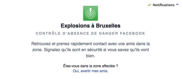 Facebook a mis trois heures à déclencher le « safety check» lors des attentats du 22 mars à Bruxelles.