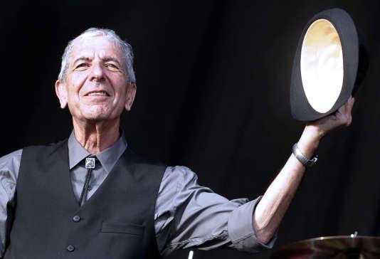 Le chanteur canadien Leonard Cohen au Festival international deBenicassim (Espagne), en juillet 2008.