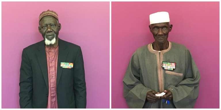Les Sénégalais Ndongo Dieng, 81 ans, etAlioune Mbodji, 85 ans, ont tous deux combattu pour la France.