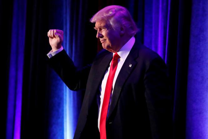 Donald Trump au New York Hilton Midtown à Manhattan, New York, le 9 novembre 2016.