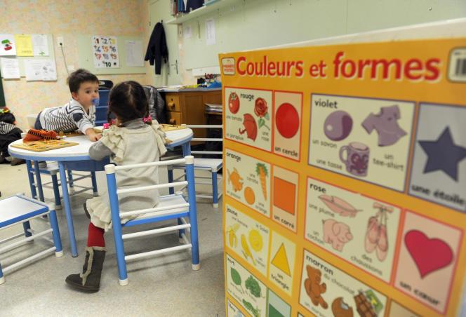 Dans un jardin d'enfants dans le sud de la France.