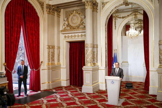 François Hollande à l'Elysée, le 9 novembre.